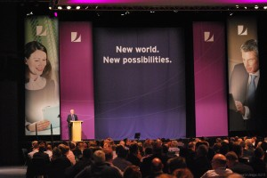 The stage at the Annual Adviser Conference
