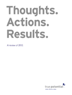 Thoughts. Actions. Results. A review of 2012.
